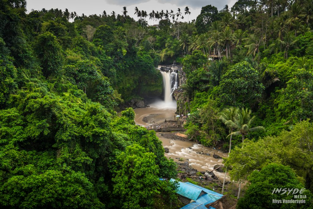 Tegenungan Waterfall from the top of the hill