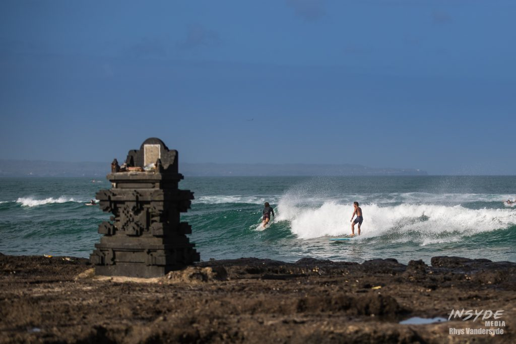 Surfing at Echo Beach, Canggu