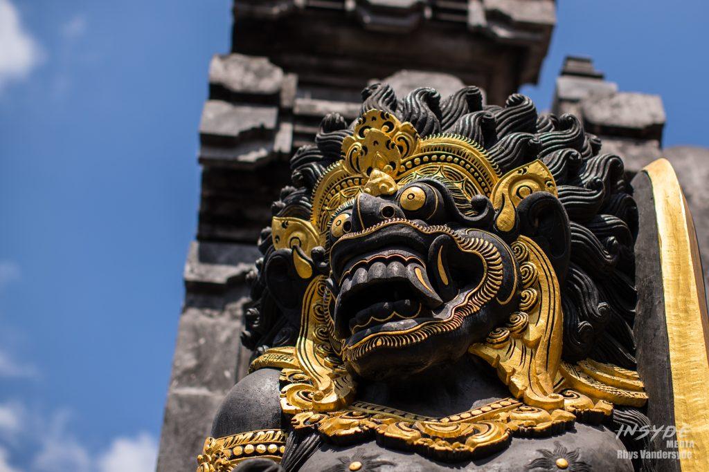 Hindu figure at Tanah Lot Temple