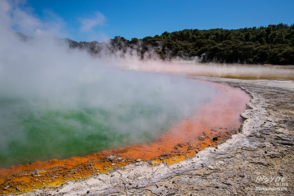 Wai-O-Tapu Thermal Pools and Rotorua is only a couple of hours drive from Auckland