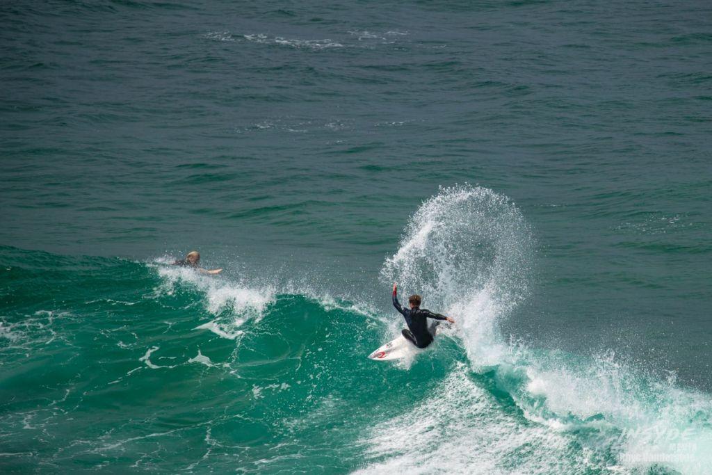 Surfing at Bells Beach